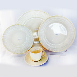 Limpet By Belleek 5 Piece Place Setting New Never Used Made In Ireland Lustre