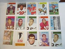 72 1966 Nfl Football Cards - Mostly Good To Near Mint - See Pics - Box Cc