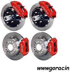 Wilwood Disc Brake Kit1968-69 Fordmercury13/12 Slotted Rotorsred Calipers