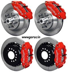 Wilwood Disc Brake Kit64-74 Gm13 Rotors6 Piston Front/4 Rear Red Calipers