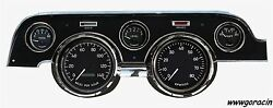 New Vintage Usa 1940 Series,black Gauges,fits 1967-1968 Ford Mustang,tach,speedo