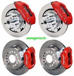 Wilwood Disc Brake Kitdodge And Plymouth 62-72 B-body70-72 E-body W/drums12red