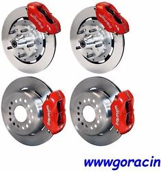 Wilwood Disc Brake Kit,complete,1964-1972 Chevy Chevelle,12 Rotors,red Calipers