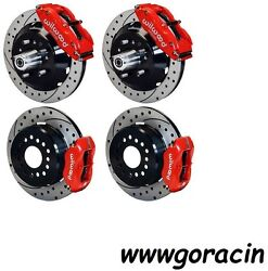 Wilwood Disc Brake Kit1964-1972 Chevelle13/12 Drilled Rotorsredwith Lines