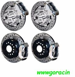 Wilwood Disc Brake Kit,complete,64-72 Chevelle,12 Drilled Rotors,polished Calip