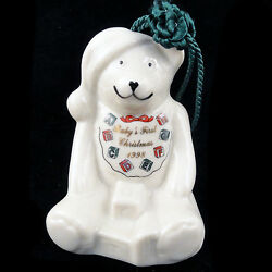 Baby's First Christmas Bell By Belleek 3new Never Used Ireland Ornament 1998