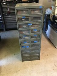 Antique 10 Drawer Library Index File Cabinet