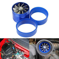2.5''-2.9'' Aluminum Auto Turbo Supercharger Fuel Saver Cold Air Intake Fan Kit
