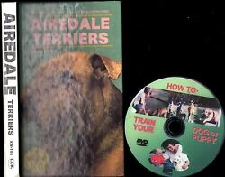 AIREDALE TERRIERS 192pg Owner Manual + FREE BONUS DVD Train Your Dog or Puppy