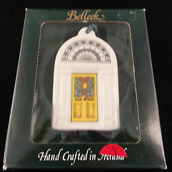 Doors Of Dublin Yellow By Belleek 3.5 New In Box Made In Ireland Ornament 2360
