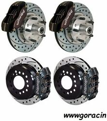 Complete Disc Brake Kit1967-69 Chevy Camaro11drilled Rotors4 Piston Calipers