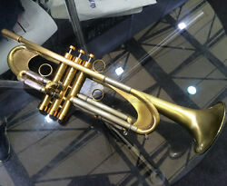 Professional Germany Design Trumpet Heavy Brushed Brass Bb Horn With Case