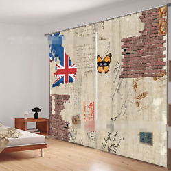 3d Flag Pattern Blockout Photo Curtain Printing Curtains Drapes Fabric Window Ca