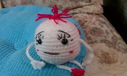 Two faced Emoji for your desk or anywhere Handcrafted crocheted meet Elsie $12.50