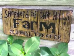 Shepherd Of The Hills Farm And Old Mill Theater Vintage-look Painted Wood Sign