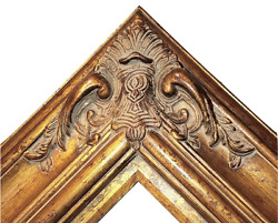 5.5 Wide Gold Leaf Ornate Antique Family Oil Painting Wood Picture Frame 620ag