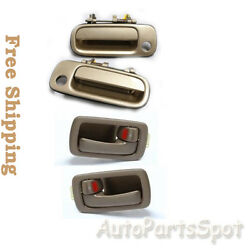 Front Outside Begin 4m9 + 2 Inside Brown Fits 92-96 Toyota Camry Door Handle
