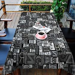 3d Letter 7896 Tablecloth Table Cover Cloth Birthday Party Event Aj Wallpaper Au