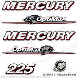 Mercury 225hp Optimax Outboard Engine Decal Kit 2007 - 2008 Decals In Stock