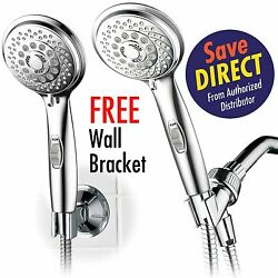 Hotelspa 4 Inch Hand Shower With 7-settings And Pause Switch, All-chrome Finish
