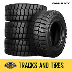 10-16.5 10x16.5 Galaxy Trac Star 10-ply Skid Steer Tires Pick Your Rim Color