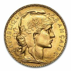 Special Price France Gold 20 Francs French Rooster Au Random
