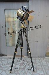 Photography Floor Lamp With Tripod Stand Nautical Studio Lamp Spot Search Light