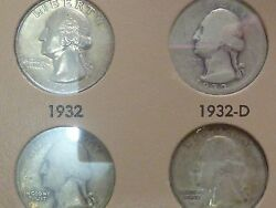 Wash Qrtrs Complete 1932-1974 P-d-s Over 50 Coins Uncirculated Sale Price