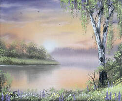 Picture Warm Summer Morning 25x30 Cm. Oil On Canvas Original With Signature