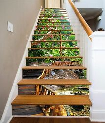 3d Wooden Road 291 Stairs Risers Decoration Photo Mural Vinyl Decal Wallpaper Us