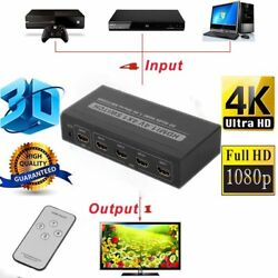 LOT 35 Port 1080P HDMI Selector Switcher Splitter Hub + Remote for PS34 HDTV P