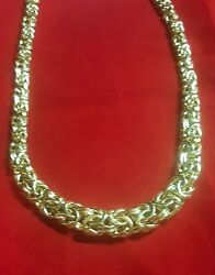 Free Shipping Over 60 Off Graduated Byzantine Necklace In 14k Gold