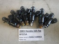 2003 Honda Outboard 225 Hp Fuel Injectors All Included 16450-zy3-013