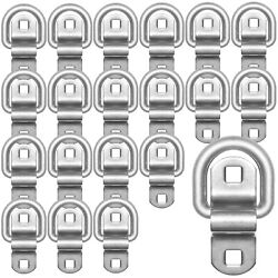 Stainless Steel Tie Down Surface Mount D-ring 6000 Lb. Cap. Tiedowns 20-pack