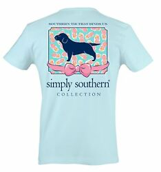 Simply Southern Puppy & Pineapples Cotton Tee Shirt $19.95