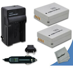 2 Nb-10l Nb10lh Batteries + Quick Ac/dc Charger For Canon Powershot G1 X Camera