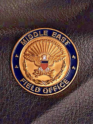 Rare Authentic Naval Criminal Service Middle East Field Office Coin -218