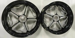 18 Black Contrast Cut Speed Star Wheelstires Set Of 2 For 2016 Can-am Spyder