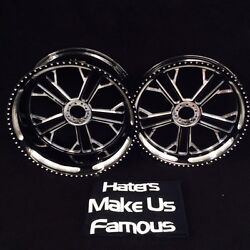 BLACK CONTRAST 360 MM KILO WHEELS HUBS SPROCKET FOR 2005 KAWASAKI ZX10