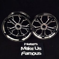 BLACK CONTRAST 360 MM KILO WHEELS HUBS SPROCKET FOR 2004-2005 KAWASAKI ZX12