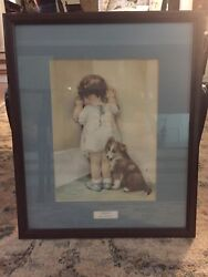 Bessie Pease Gutmann Prints Professionally Matted And Framed Set