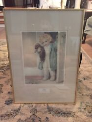 Bessie Pease Gutmann Print Good Morning Frame And Matted