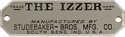 Izzer Buggy Data Plate Made By Studebaker Brothers 1800s
