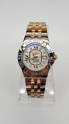 Ladies Breitling Galactic 30 18KStainless - Mother of Pearl