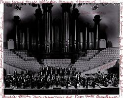 Maurice Abravenal Conductor And Utah Symphony Principals Autographed Photograph
