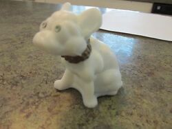 Cute French Bulldog Dog Vintage Westmoreland Art Glass Figurine