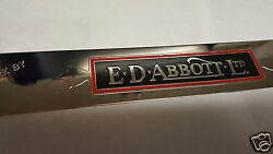 Abbott Door Sill Plate Set Of 2 Acid Etched Brass Nickel Plated And Color Backfl