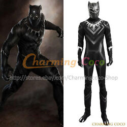 Captain America 3 Civil War Cosplay Tand039challa Black Panther Costume Fancy Dress
