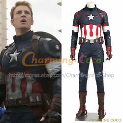The Avengers 2 Age Of Ultron Cosplay Captain America Steve Rogers Costume Great