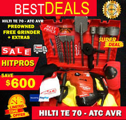 Hilti Te 70 Atc Avr Preowned Free Grinder Bits Chisels Extras Fast Ship
